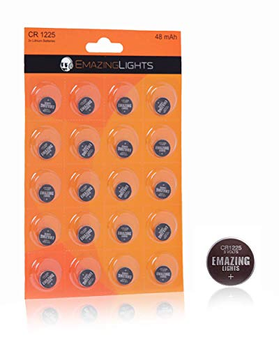 EmazingLights CR1225 Batteries 20 Pack 3V Lithium Button Cell Battery Pack