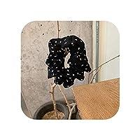 睿ちゃん女性ドットヘアネクタイシフォンヘアリボンバンドガールズヘアアクセサリー帽子シュシュティアラ装飾ヘアバンド-black-