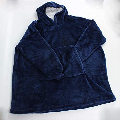 Ririhong Lazy Hoodies Sudadera Mujer Sudaderas con Capucha de Invierno Fleece Giant Pullover TV Manta con Mangas Pullover Oversize Women Hoody-Light_Blue_One_Size_For_All