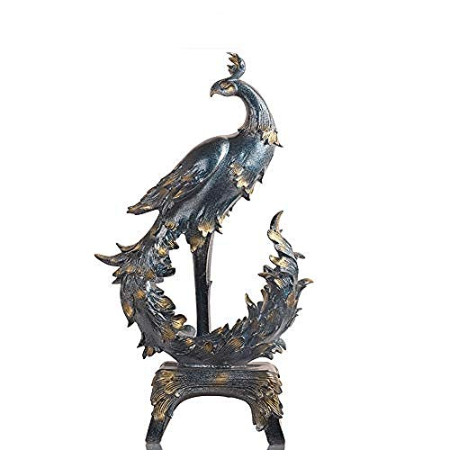 LJXLXY Europese Phoenix hars ornamenten retro veranda woonkamer huis gift model kamer TV kast desktop display stand Decoraties Art Craft