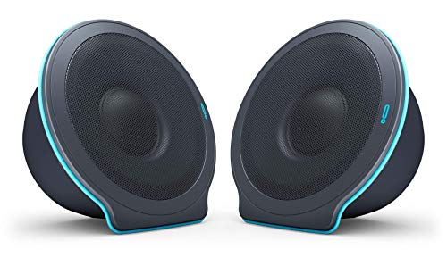POW UNA X Collapsible Portable Bluetooth Speaker (2-Pack) - 16-Hour Playtime, 20W 360° Stereo Sound, 100ft Range | Wireless Stereo Pairing & Built-in Microphone | Water Resistant, Indoor/Outdoor Use