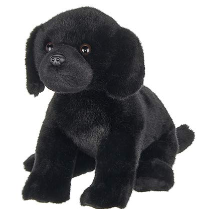 Bearington Chase Plush Black Lab Stuffed Animal Puppy Dog, 13 Inches