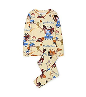 Books to Bed Boys' Long Sleeve Printed Pajama Set, Little Blue Truck, 4 Years