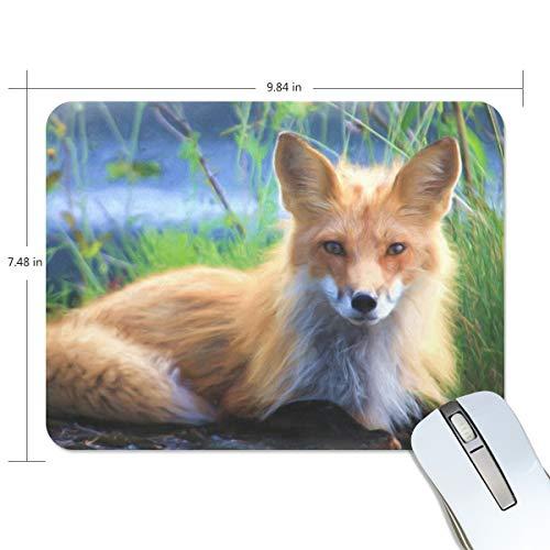 Preisvergleich Produktbild MalpLENA Mauspad mit Tiermotiv und Fuchs,  hochwertig,  texturiert,  rutschfeste Gummiunterseite,  für Laptop,  Computer und PC
