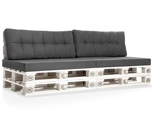 PALETTI Europaletten-Sofa, 3-Sitzer, Fichte massiv, Weiss