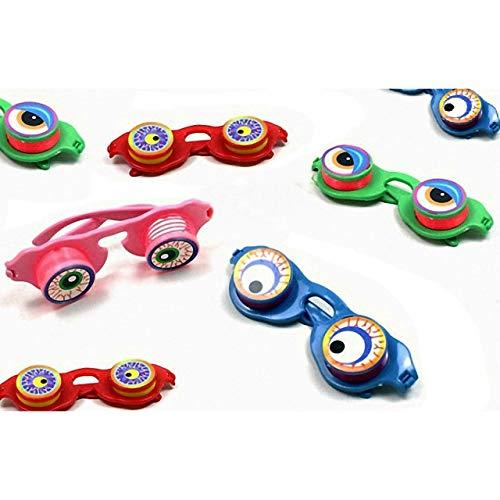 HM-Trends 8X Kinder Brille mit Wackelaugen Mitgebsel Tombola Party Scherzbrille
