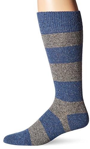 HUGO BOSS Men's Boot Sock (Wool Blend), Bright Blue, Sock Size: 10-13/Shoe Size:9-11
