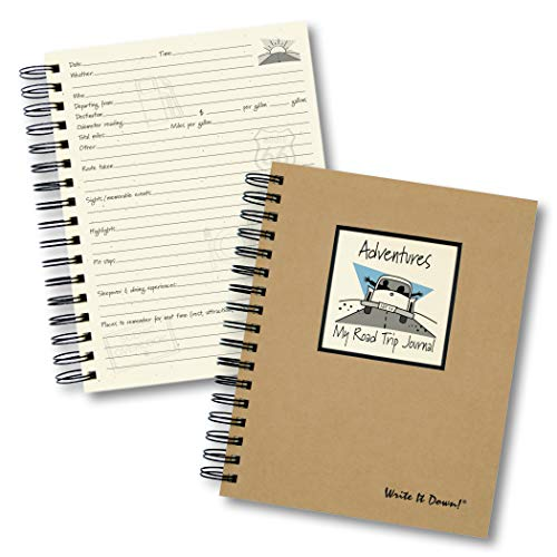"Journals Unlimited ""Write it Down!"" Series Guided Journal, Adventure, My Road Trip Journal, with a Kraft Hard Cover, Made of Recycled Materials, 7.5""x 9"" Photo #2"