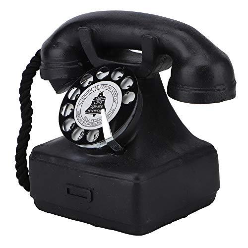 Cuifati Teléfono Antiguo Línea Fija Decoración del hogar Mano de Obra Exquisita Estilo clásico y Elegante Adecuado para Varios Lugares