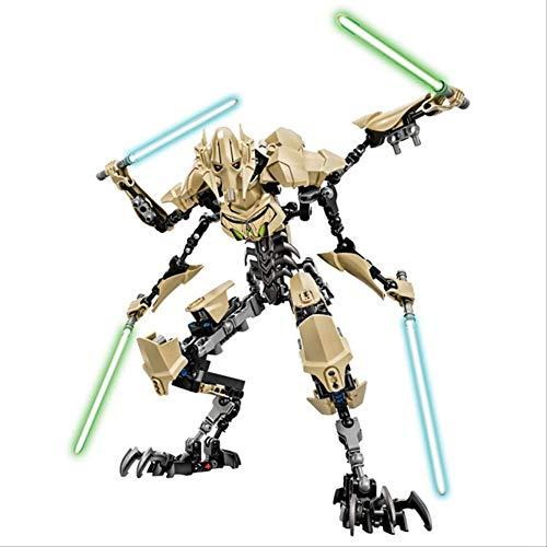 WJRAY Figura De Acción Star Wars Luke Leia Darth Vader Maul Sith Malgus Han Solo Jawas Ewok Yoda Rey Building Blocks Juguetes para Niños General Grievous
