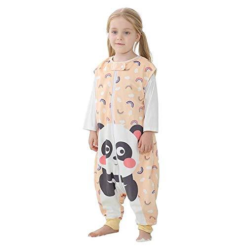 Saco de Dormir con Pies para Niños 1.5 Tog Bolsa Dormida Cremallera Frontal Sin Mangas Pijama Peleles para Dormir, 5-7 Años