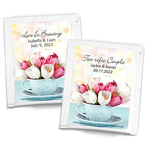 SET OF 10 Wedding tea bag favors \u239c custom tea bags \u239c personalized tea wrappers \u239c tea envelope  bridal shower party \u239c baby love is brewing
