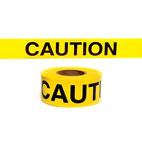 Swanson BT100CAU2 3-Inch by 1000-Feet 2-MIL Barricade Tape Caution with Yellow/Black Print