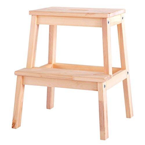 ZhuFengshop Kruk met ladder voor kinderen, kleine bank van hout, vierkant, antislip, robuuste schoenen, kruk voor huishouden, multifunctioneel, voor tuin, keuken, voetensteun, voetensteun