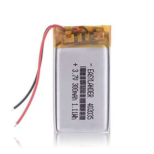 Dilezhiwanjuwu 3.7V 300mAh Li Polymer Battery 1pcs para GPS PDA MP3 MP4...