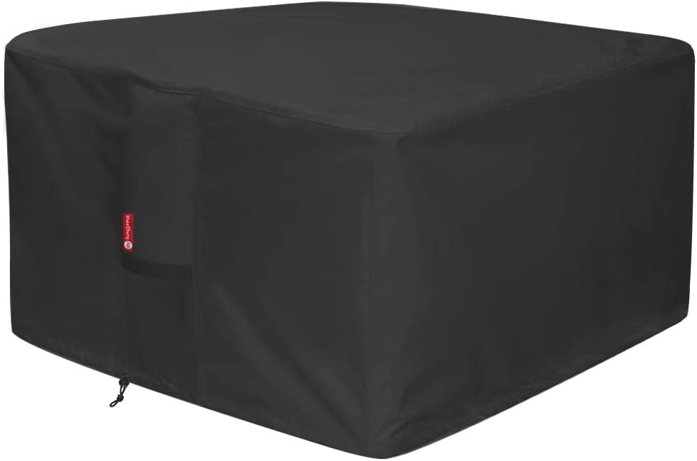 Raleigh Omaha Mall Mall Gas Fire Pit Cover Square - Heavy Outdoor Du Patio Premium