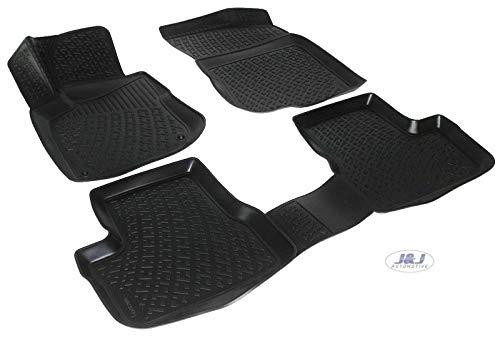 J&J AUTOMOTIVE | Tapis DE Sol en Caoutchouc 3D Exclusive Compatible avec Peugeot 207 2006-2012 4pcs