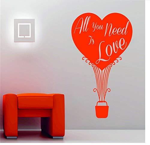 Wandaufkleber Valentinstag Luftballon Herz Fenster Display Liebe Vinyl Wandaufkleber 45 * 69Cm