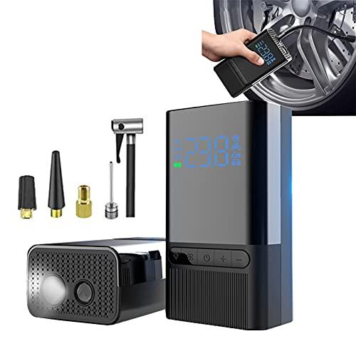 FUMENG Compresor de Aire portátil Mini Neumático Inflador 120PSI Bomba de neumático 5200mAh Batería para neumáticos de automóvil, Motocicleta de Bicicleta