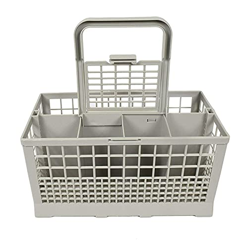 Ymxcwer85851 Caja de Almacenamiento Universal Cuadrada Ligera para lavavajillas portátil Canasta de Cubiertos para lavavajillas Europea Americana (Gris)