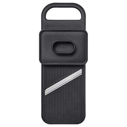 Mandoline, schwarz, Material: Korpus: Poly Amide Kunststoff Seite: Kunststoff Kautschuk Halter: PP Kunststoff Klinge: Edelstahl