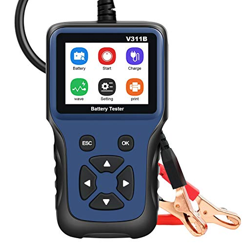 Bariicare Car Battery Tester 12V Battery Load Tester, 100-2000 CCA Digital Analyzer Automotive Test Tool Battery Tester for Truck Car Yacht Motorcycle