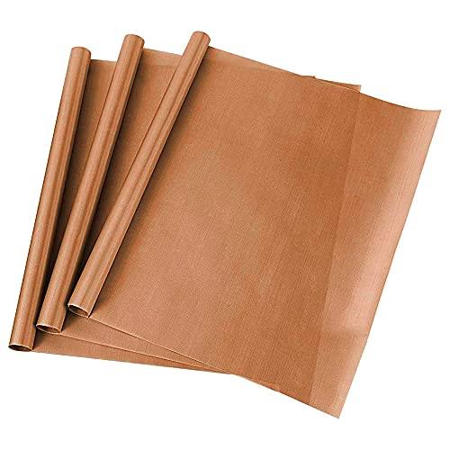 YeenGreen Papel para Hornear Reutilizable, Papel de Cocción Duradero, Lavable y Recortable, Permanente Duradero, Apto para Lavavajillas(Set de 3 Hojas 30 x 40 cm)