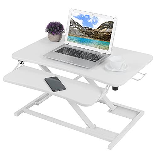 Gedourain Escritorio para computadora, Tablero de Densidad fácil y Material de tubería de Acero Mesa para computadora Fácil instalación para computadora para Trabajar