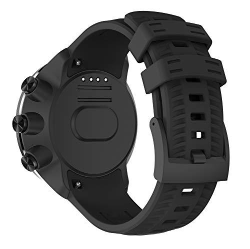 TOPsic Suunto 9 Baro Correa, Silicona Suave Bandas Repuesto Accesorio Deportiva Pulsera para Suunto 9 Baro/Suunto 7/Suunto 9/Suunto D5/Suunto Spartan Sport Wrist HR Smart Watch
