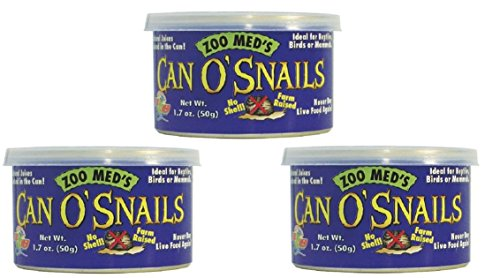 Zoo Med Can O' Snails Turtle Food, 1.7-Ounce (Pack of 3)