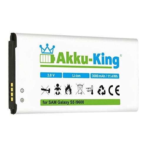 Akku-King Akku kompatibel mit Samsung EB-B900BE - Li-Ion 3000mAh (ohne NFC) - für Galaxy S5, S5 Neo, GT - i9600, i9602, i9605, SM-G901