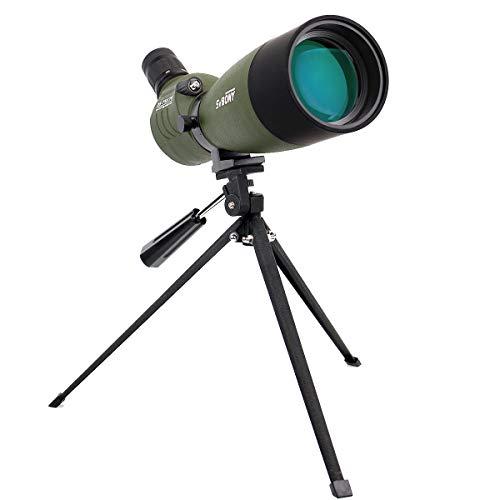 Svbony SV14 Spektiv 25-75x70 BAK4 Prisma FMC Optik Monokular Teleskop Vogelbeobachtung 360° Drehbarem Tubus Abgewinkelt Spektive für Sportschützen