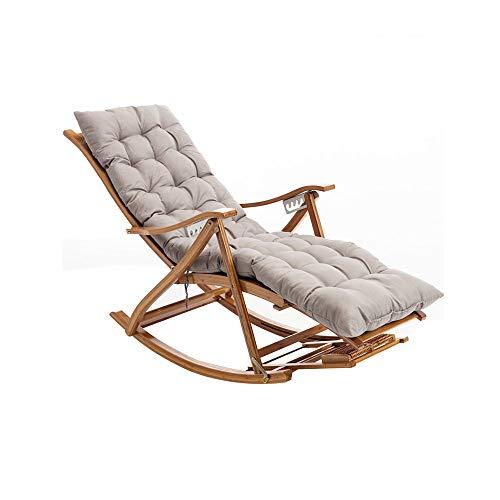 CJSWT Sillón de chaiseo Plegable para al Aire Libre, Interior, Playa, Patio, césped, reclinable de Camping Ajustable de Servicio Pesado con Almohada, algodón Acolchado, Soporte 330lb
