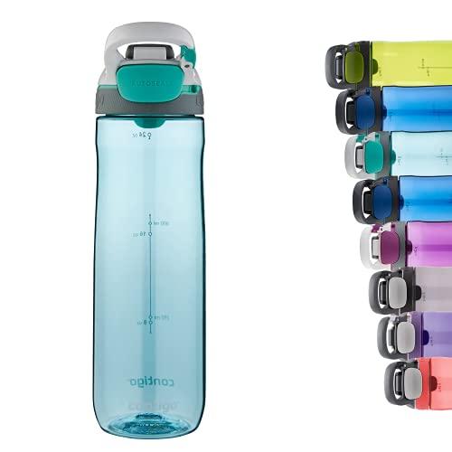 Contigo Cortland Autoseal botella de agua, botella grande sin BPA, botella deportiva hermética, apta para lavavajillas, adecuada para deportes, ciclismo, running, senderismo