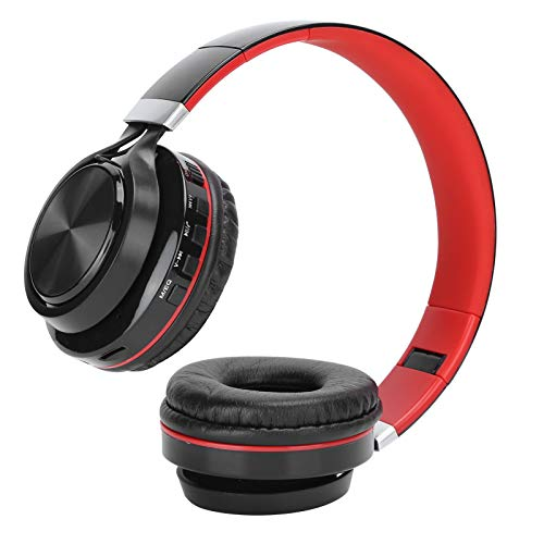 Auriculares inalámbricos para colocar sobre la oreja, altavoz de 40 mm, graves pesados, estéreo, tarjeta de enchufe plegable, auriculares inalámbricos con Bluetooth, auriculares deportivos HIF