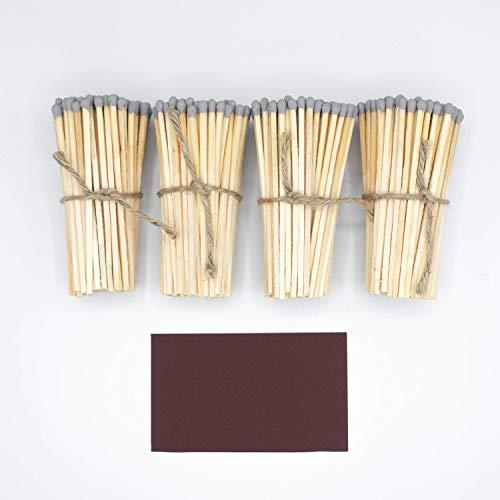 Wandler by Infinity Boxes Nachfüll-Set Streichholzbox, 401-tlg, Magnet Reibefläche + Streichhölzer, grau