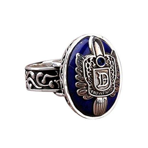 HUAMING Anillo de vampiro, anillo de lujo de luz del día, anillo de potencia de piedra del alma de la guerra infinita, diario de vampiro, anillo de Damon para fanáticos
