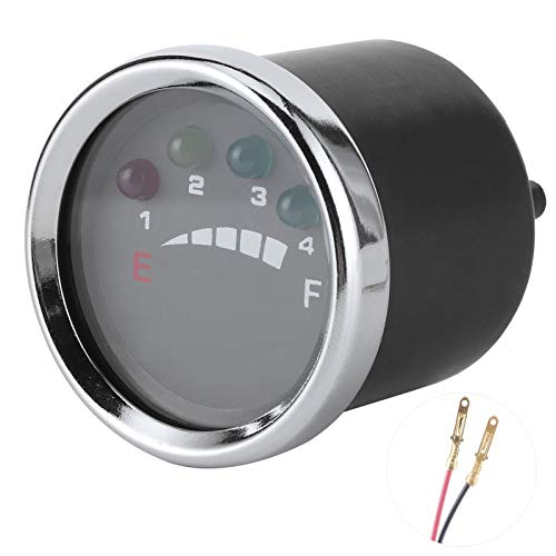 Medidor de batería LED, indicador de batería, funcionamiento silencioso Carro de golf ATV de alta confiabilidad precisa para barco solar eléctrico(12V)