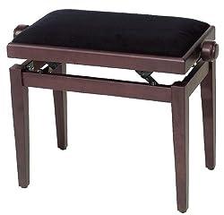 Pianobank Velour schwarz - rosenholz matt (F900.563)
