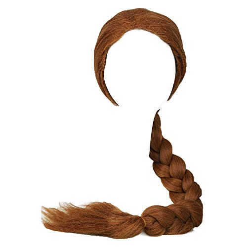 Coslive Shrek Princess Fiona Wig Ultra-Long Brown Braid Wig Cosplay Accessory