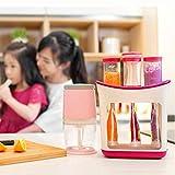 Squeeze Station Pressen für Babykostzubereitung, Aufbewahrung von drei Babynahrungsspendern, Extrusionspresse für Fruchtpüree-Saftbeutel für Babynahrung, BPA-frei