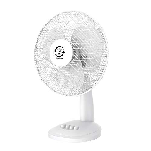 fam famgizmo Tischventilator 40cm,Tisch Ventilator mit 3-Leistungsstufen,Leistungsaufnahme 40W, leise, Ventilator,Neigungswinkel 30°,Oszillation 120°
