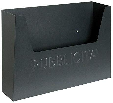 Caja porta anuncios para exterior postal publicidad, cesta para periódicos, oferta para condominio de casa, de hierro, fabricada en Italia, color gris