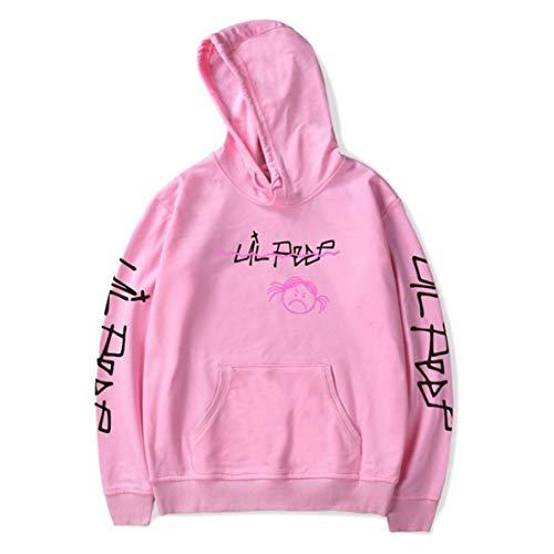 Unisex Lil Peep Hoodie Love Printed Fashion Sport Hip Hop Hoodie Sweatshirt Pocket Jacket Pullover Tops Pink