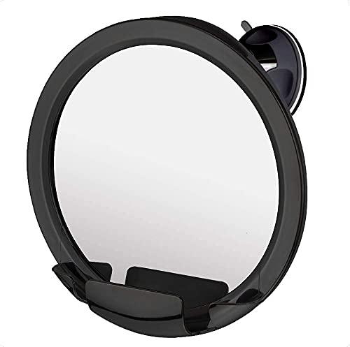 Espejo de ducha para afeitarse con ventosa, 20cm diametro