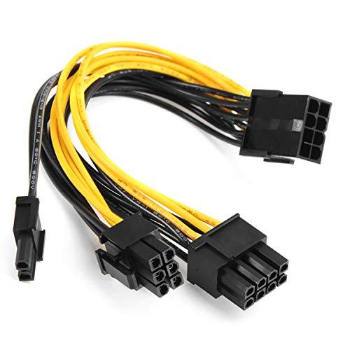 MJJEsports 5 stks PCI-E 8-pins naar 2x 6+2-pins Power Splitter Kabel PCIE PCI Express Splitter Lint Miner Kabel