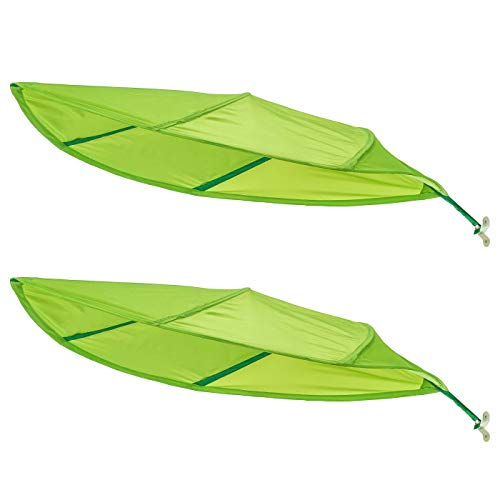 Ikea Green Leaf Lova Kid Bed Canopy - Latest 2017 IKEA Model Improved for Home and Office Use - Perfect for Diffusing Harsh Florescent Office Lighting - Short Stem (2-Pack)