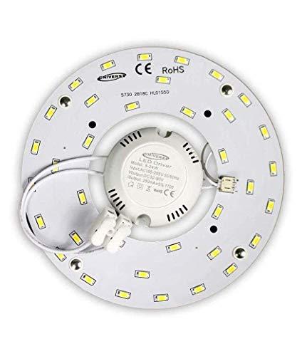 Circolina LED Corona 16W SMD 5730 modulo di ricambio circolare tubo neon per plafoniere a Calamita 220V Ultra Slim Luminoso Bianco FREDDO
