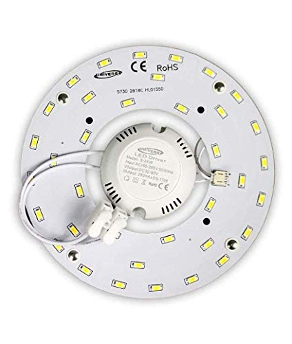 Circolina LED Corona 54W SMD 5730 modulo di ricambio circolare tubo neon per plafoniere a Calamita 220V Ultra Slim Luminoso Bianco NATURALE