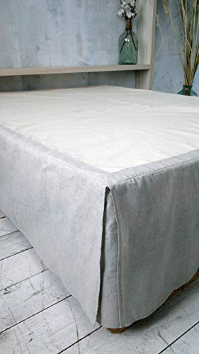 Linen Dust Bed Skirt. Softened. Twin Xl Full Double Queen King. All Sizes. All colours. Natural Bedding. Comforter. Eco friendly. HANDMADE. FREE SHIPPING.